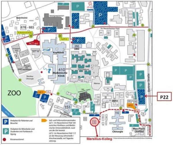 Heidelberg University Campus Map.Address University Of Heidelberg